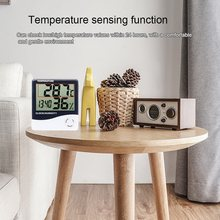 High Precision Digital Hygrometer Thermometer LCD Electronic Temperature Humidity Monitor Indoor Outdoor Weather Station Clock(China)