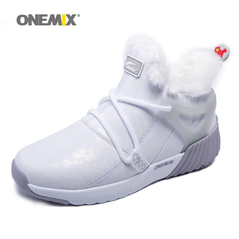 ONEMIX Women's Winter Snow Boots Keep Warm Sneakers For Men Boots Comfortable Running Shoes Walking Outdoor Sport Trainers