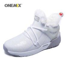 ONEMIX kadın kış kar botları sıcak tutmak Sneakers çizmeler rahat koşu ayakkabıları yürüyüş açık spor eğitmenleri