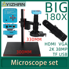 Microscope-Camera Zoom-Lens Industrial Video-Recorder Hdmi-Video U38MP Adjustable VGA