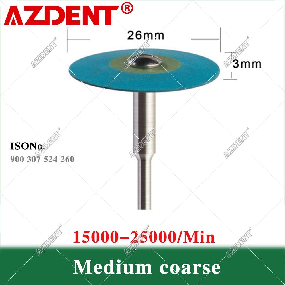 1PC Dental (HP) 26mm Rubber Diamond Polish Wheels For Zirconia Porcelain PFM Emaxs