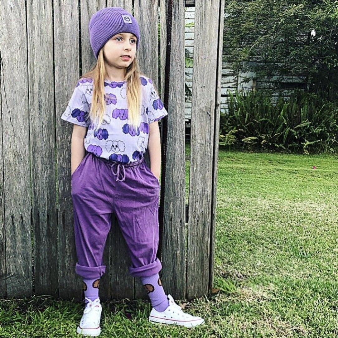 Kids Clothes Sets T-shirts 2021 New Spring MR Brand Girls Cartoon Pattern Dress Cotton Fashion Baby Romper Boys Casual Pants 2