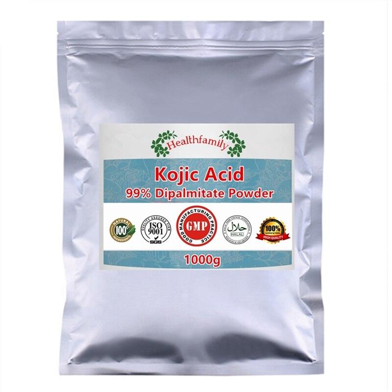 99% экстракт дипальмитата Kojic кислота порошок, более сильная отбеливающая кожа, удаление солнцезащитного крема и веснушек, блеск для тела лиц...