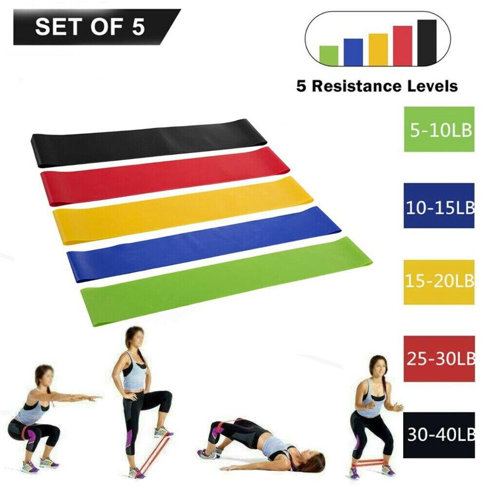 Ensemble de ceintures de Yoga résistant simples | 5 pièces, fessiers pour exercice, Yoga, Pilates, gymnastique à domicile, solide, sport à domicile