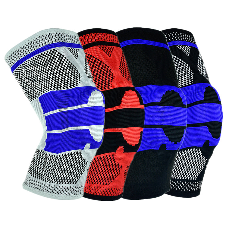 Sports Safety Knee Sleeve 1 PC Silicone Padded Knee Pads Supports Brace Basketball Meniscus Patella Protection Kneepads