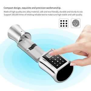 Intelligent Biometric Fingerprint Scanner Door Lock Password Coded Lock for Smart Home fechadura digital cerradura inteligente