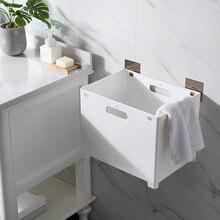 Органайзер для ванной комнаты без ударов, складная корзина для хранения, кухонная настенная полка для ванной комнаты, подвесная корзина для хранения белья