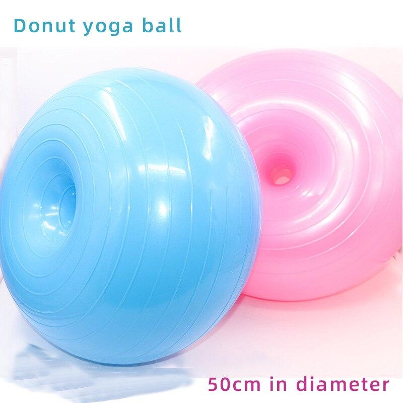tragbares Fitness-Zuhause Yoga AMTSKR Aufblasbarer Gymnastikball Kraft-Balance-Trainingsball stabil Donut-Trainer Fitness-Zubeh/ör