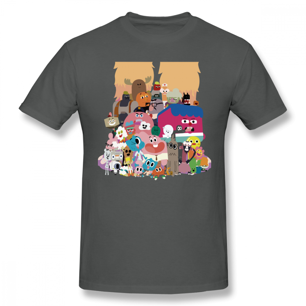 Gumball Amazing World T Shirt The Amazing World Of Gumball T Shirt Cotton Men Tee Shirt Print Cute Plus size Streetwear Tshirt in T Shirts from Men 39 s Clothing