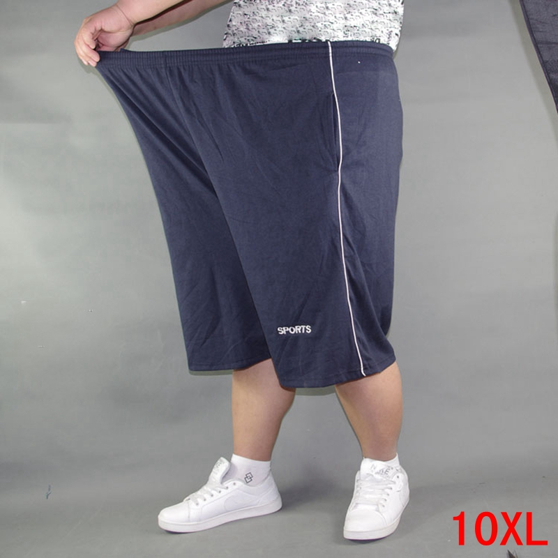 Men's Plus Size Shorts Plus Size 8XL 9XL 10XL Waist 142cm Summer Large Elastic Sports Casual Loose Large Size 60 Blue Shorts