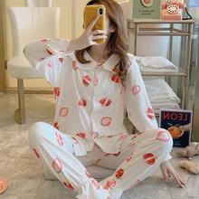Womens Pajamas Sets Comfortable Strawberry Print Pa