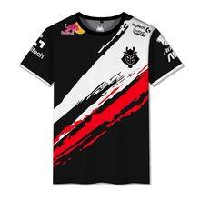 Camisa de identificação pessoal de hochwertige g2 esports do fã do nome de kunden do jogador 2020 lol csgo do uniforme do escape do estilo quente do verão