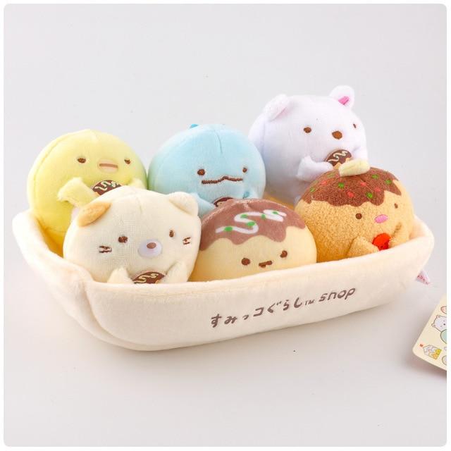 1 セットかわいい日本sumikko gurashiコーナーバイオぬいぐるみキーチェーンペンダントソフト漫画コーナークリーチャーぬいぐるみ動物のおもちゃの人形