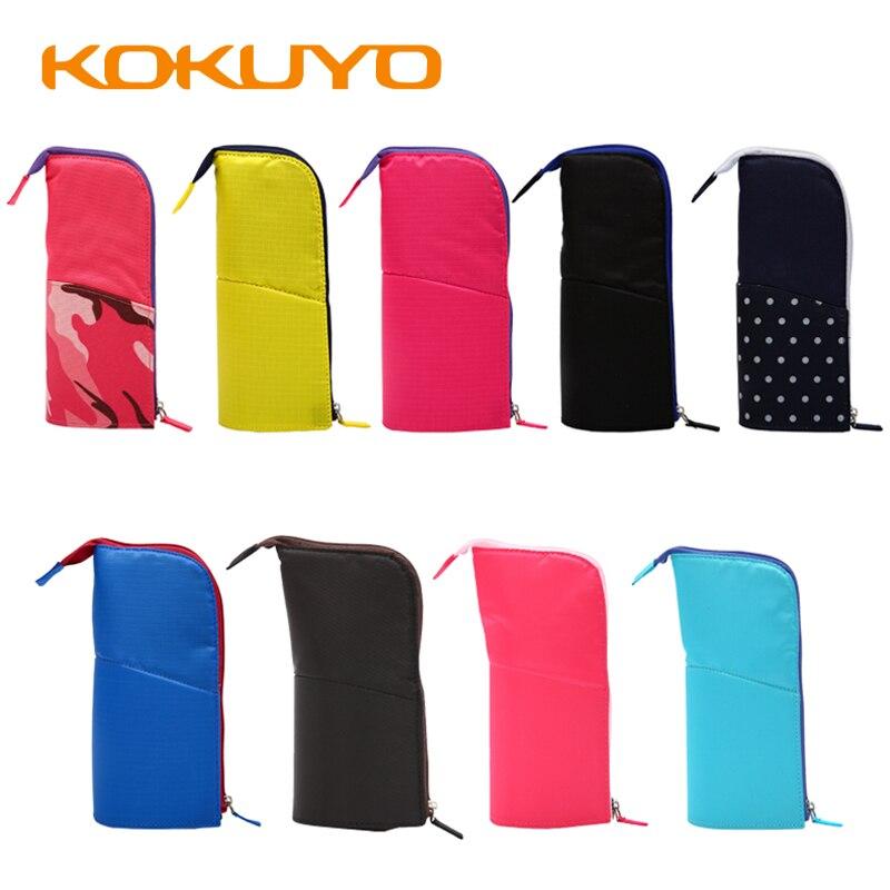 1Pcs Japan KOKUYO Multifunctional Deformable Pen Holder Pen Case Large Capacity 2-in-1 Vertical Stationery Pen Case