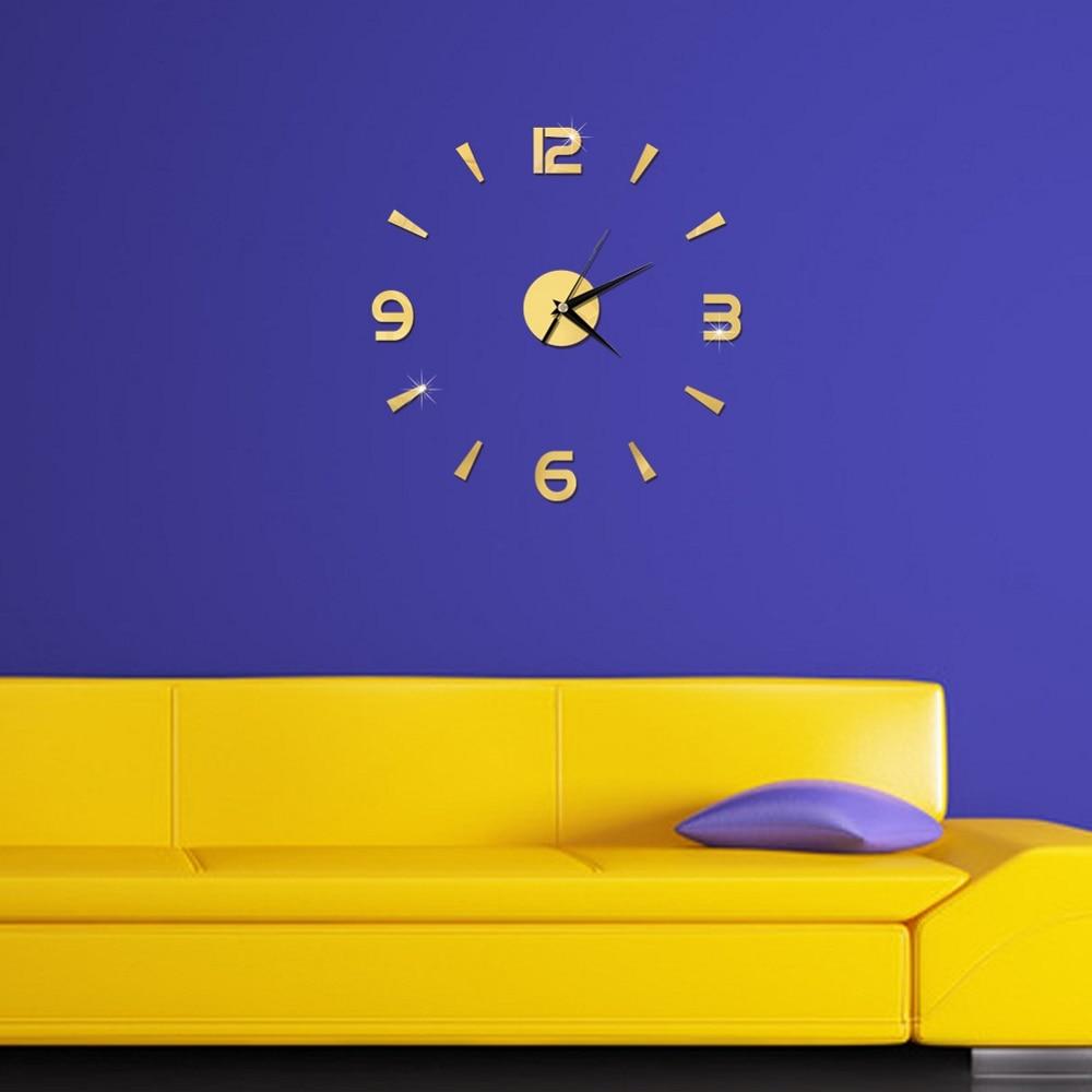 2019 New 3D Wall Clock Mirror Wall Stickers Fashion Living Room Quartz Watch DIY Home Decoration Clocks Sticker reloj de pared 9