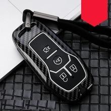 Углеродное волокно сплав+ силиконовый автомобильный корпус умного ключа Fob Крышка для Ford Fusion MONDEO Mustang F-150 Explorer Edge