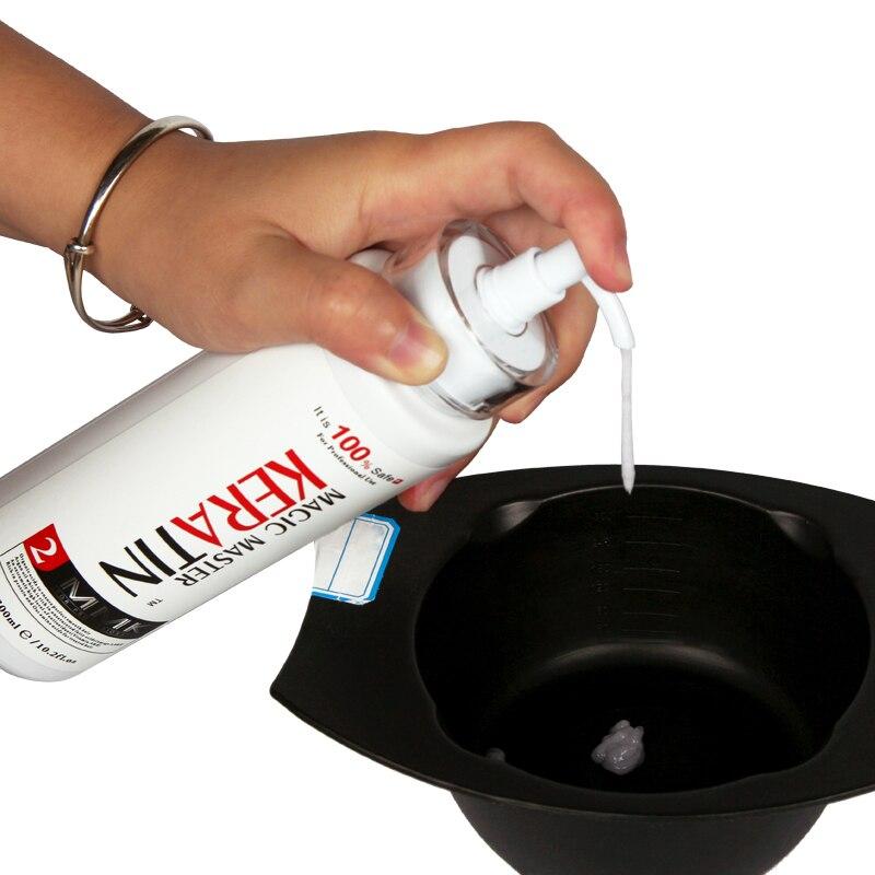 Купить с кэшбэком 300ml Keratin Without Formalin Coconut Oil +300ml Purifying Shampoo Professional Repair Damaged&Straighten Hair