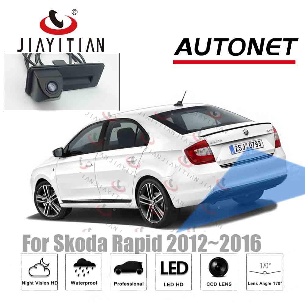 JIAYITIAN Car Trunk Handle camera For Skoda Rapid sedan 2011 2012 2013 2014 2015 Rear View camera Parking camera backup Camera