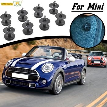 8Pcs Car Carpet Floor Mat Clips Twist With Washers For BMW Mini Copper S Paceman Hatch Cabrio Holders Fixing Grips Buckles Clamp image