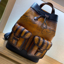 Handmade cowhide fashion trend shoulder bag travel bag