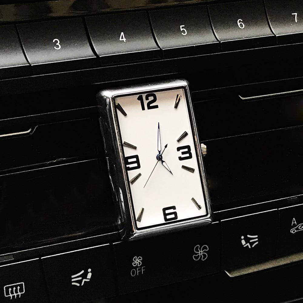Car Clock Automobiles Quartz Watch Automotive Interior Decoration Stick-On Digital Clock Time Display Car-Styling Accessories