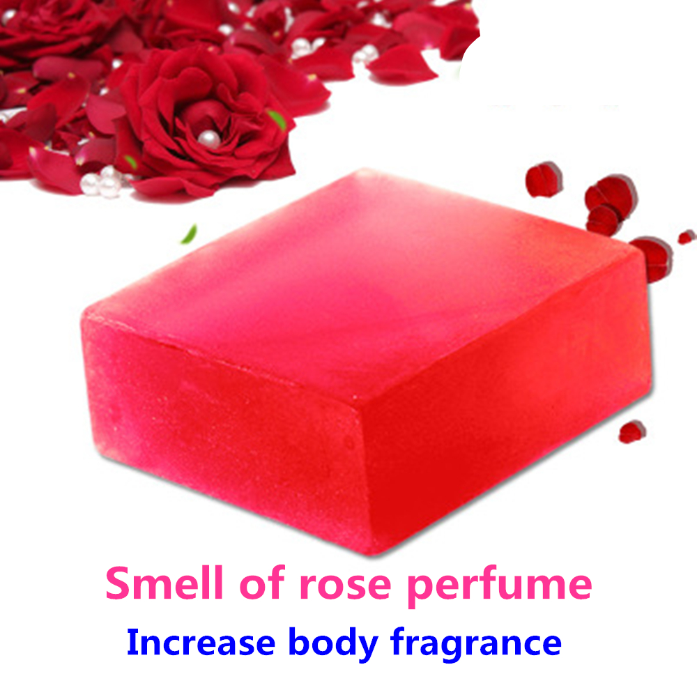 Nature Rose Aroma Handmade Soap Face Back Neck Body Skin Care Beauty Fade Spots Shrink Rough Pores Deep Cleaning Soap 100g