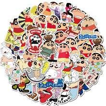 50 Pcs/pack Creative Kawaii Self-made Crayon Shin-chan Scrapbooking Stickers /decorative Stickers /DIY Craft Photo Album