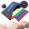 Растяжитель спины для облегчения боли в нижней части поясницы с массажем шеи Магнитная терапия устройство для фитнеса для акупрессуры снят...
