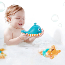 Hape baby bath toys water toy for kids swimming teddy and colourful dolphin on swimming pool