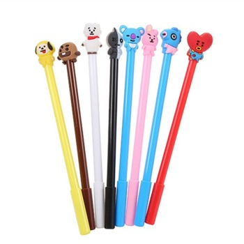 40 Pce cartoon dog stationery pen gel ink gift student office supplies pen kawaii test cute kawaii pen stationery animal pen cute kawaii cartoon gel ink pen ballpoint 0 5mm hands up black ink writing stationery student gifts