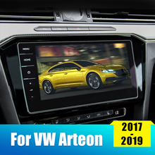 9.2inch Car Screen Protective Film For VW Arteon 2017 2018 2019  Car GPS Navigation Screen Tempered Glass LCD Protector Sticker цена 2017
