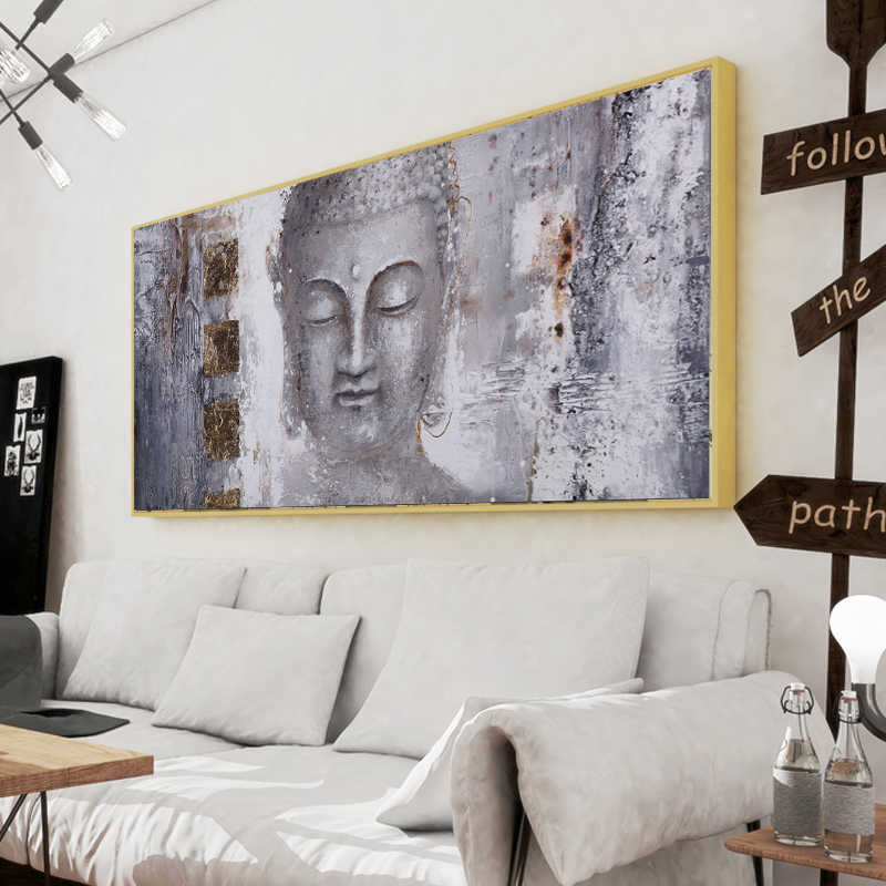 Large Size Poster Canvas Art Buddha Painting Wall Art For Living Room Home Decor Modern Art Print Decorative Pictures No frame