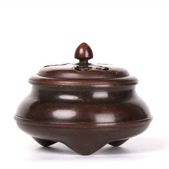 MOZART Pure Copper ThreeLegged Incense Burner Home Indoor Sandalwood Furnace Large Aromatherapy Furnace For Buddha