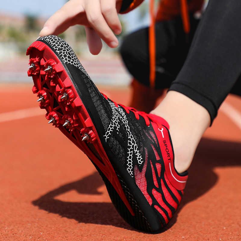 Männer Frauen Spikes Sprint Schuhe Berufs Leichtathletik Schuhe für Männer Frauen Jungen Mädchen Laufschuhe Schuhe mit Spikes Turnschuhe