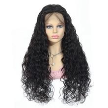 Parrucche per capelli umani ad onda dacqua 8 34 pollici 13x4 parrucche anteriori in pizzo con capelli per bambini attaccatura dei capelli naturale % 150 densità Remy parrucche con chiusura in pizzo