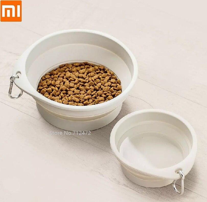 Xiaomi JordanJudy Pet Bowl Foldable Cat And Dog Universal Portable Drinking Bowl Home Outdoor Feeding Bowl Pet Basin