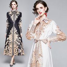 Женские Осенние длинный макси шифоновый платье festa высокого