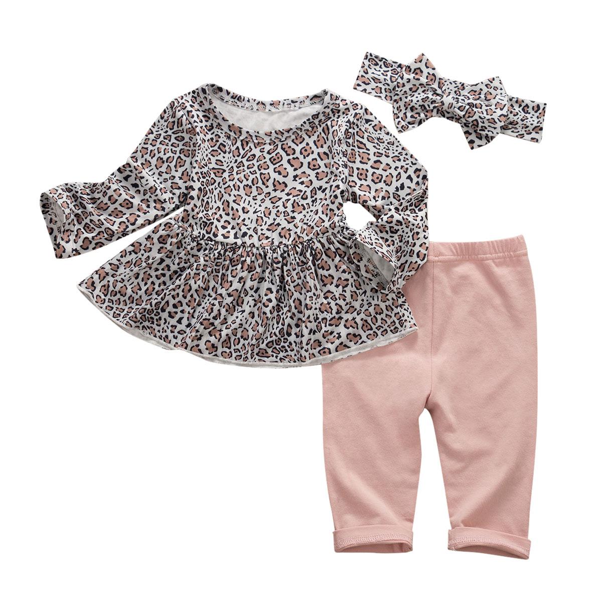 Mode Kleinkind Baby Mädchen Kleidung Langarm T-shirt Top Leggings Hosen Outfit