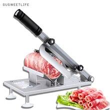 Cortadora de carne en rodajas, máquina cortadora de carne, entrega automática de carne, escritorio, corte fácil, carne congelada y cordero