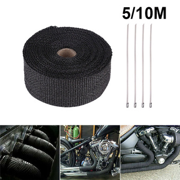 Motorcycle Exhaust Thermal Tape Heat Shield Cover For HONDA HORNET 900 XR 150 VARADERO 1000 VALKYRIE 1500 NC 750X DEAUVILLE image