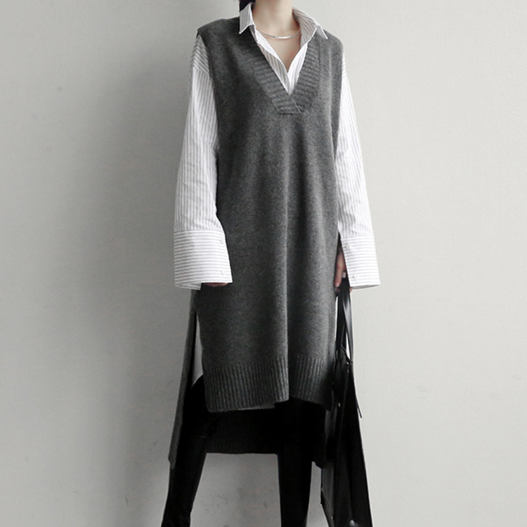 New Loose Sleeveless Sweater Spring Autumn Women Vest Sweaters Knitting  Long Vests Joker Knitted Wool Oversize Girls Pullover - Big Promo #0A75F |  Cicig