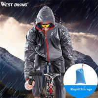 West biking impermeável ciclismo capa de chuva estrada mtb bicicleta ciclismo jérsei capa de chuva à prova vento ropa ciclismo roupas