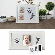 Newborn Footprint Handprint Baby Souvenir Paw Print Pad Photo Frame Pad Inkless Wipe Baby Kit-Hand Foot Print Keepsake(China)