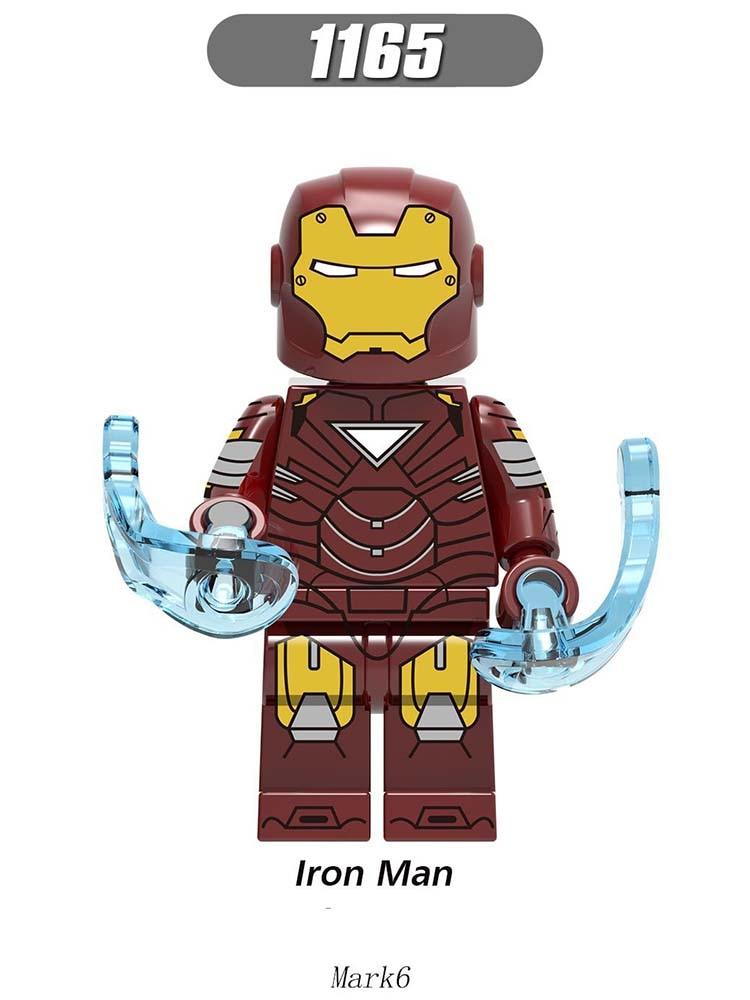 Single Sale Super Heroes LegoINGlys Figured Avengers Iron Man Mark42 Mark6 Mark22 Bricks Model For Children Toys Gifts X0246