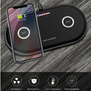Image 3 - 듀얼 20 w 빠른 무선 충전기 아이폰 xs xr x 8 airpods 2 더블 10 w usb c qi 충전 패드 삼성 s10 s9 s8 참고 10 9 8