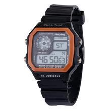 Waterproof Dual e Personality Men's Multi Function LED Electronic Watch