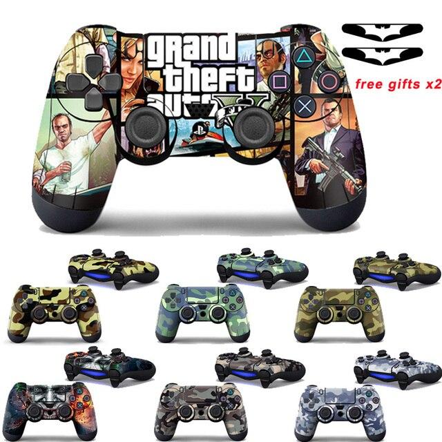 Sony PS4 denetleyici kamuflaj vinil kapak kaplama çıkartması cilt Playstation 4 Gamepad çıkartma Joystick Joypad Controle