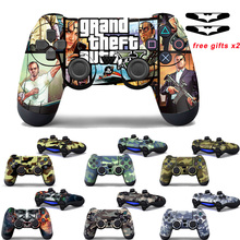 Voor Sony PS4 Controller Camouflage Vinyl Skin Sticker Cover Skin Voor Playstation 4 Gamepad Decal Joystick Joypad Controle