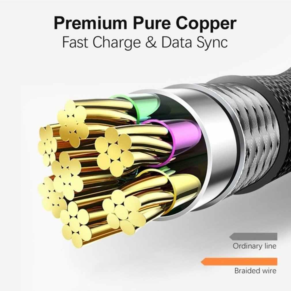 Tipo c cabo carregador rápido cabo usb 90 graus cotovelo cabo de dados de náilon para samsung para xiaomi android telefone cabo dropshipping