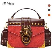 Fashion Metal Lion Head Mini Small Square Pack Shoulder Bag Crossbody Female Clutch Women Designer Wallet Handbags Bolsos Mujer